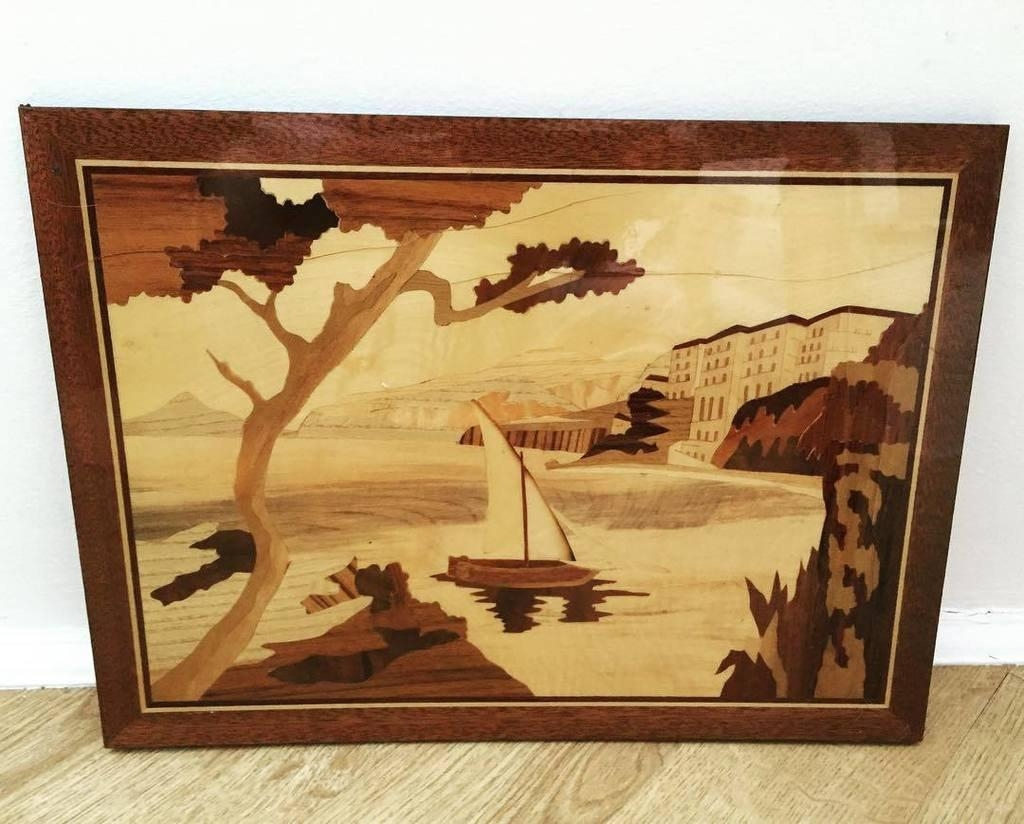 Wall Art Ideas: Italian Inlaid Wood Wall Art (Explore #10 of 20 Photos)