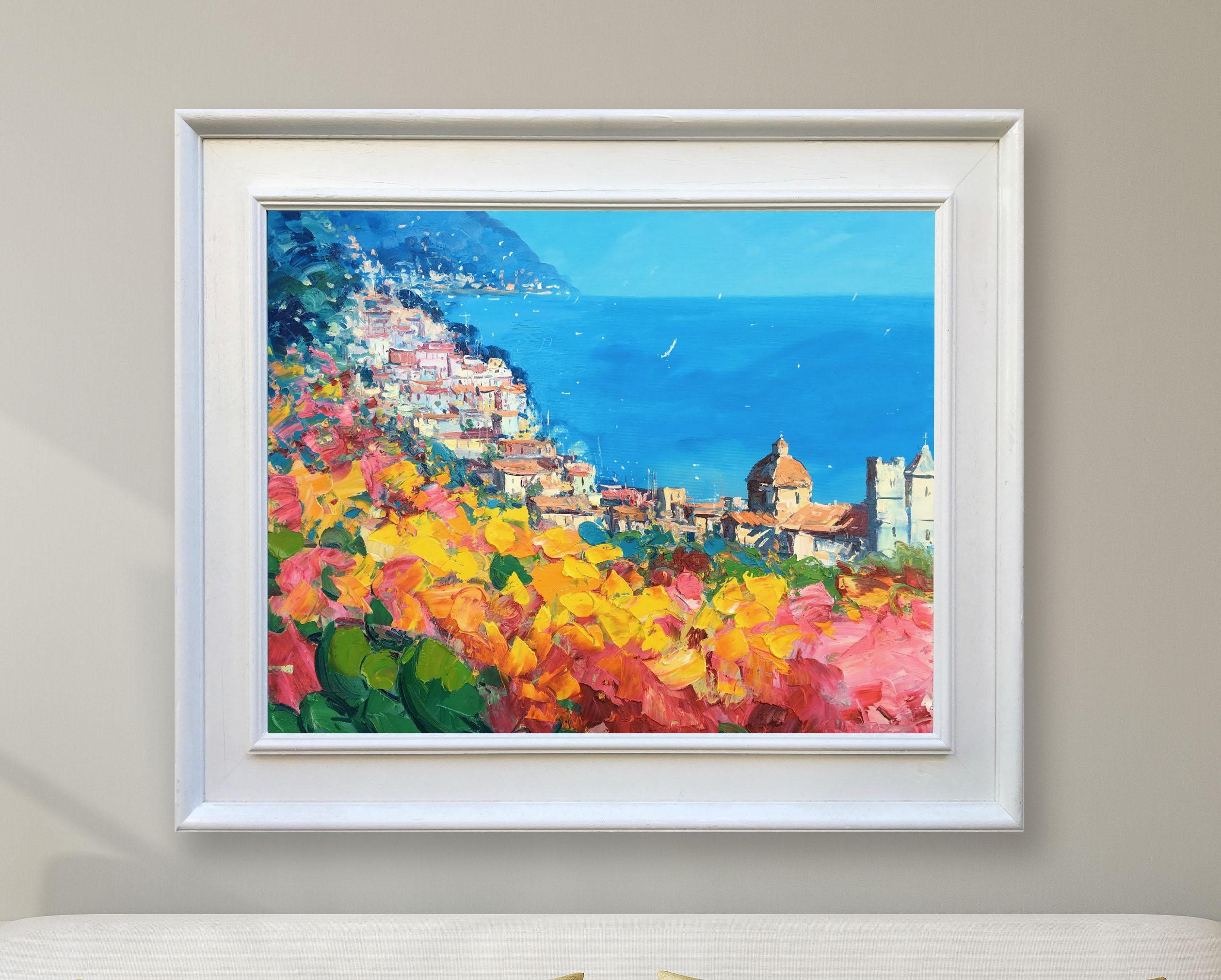 Positano Painting Italy Painting Amalfi Coast Canvas Art Intended For Italian Coast Wall Art (View 18 of 20)