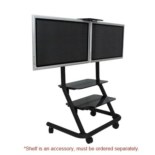 Ppd2000 – Dual Display Video Conferencing Cart With 2017 Dual Tv Stands (View 16 of 20)