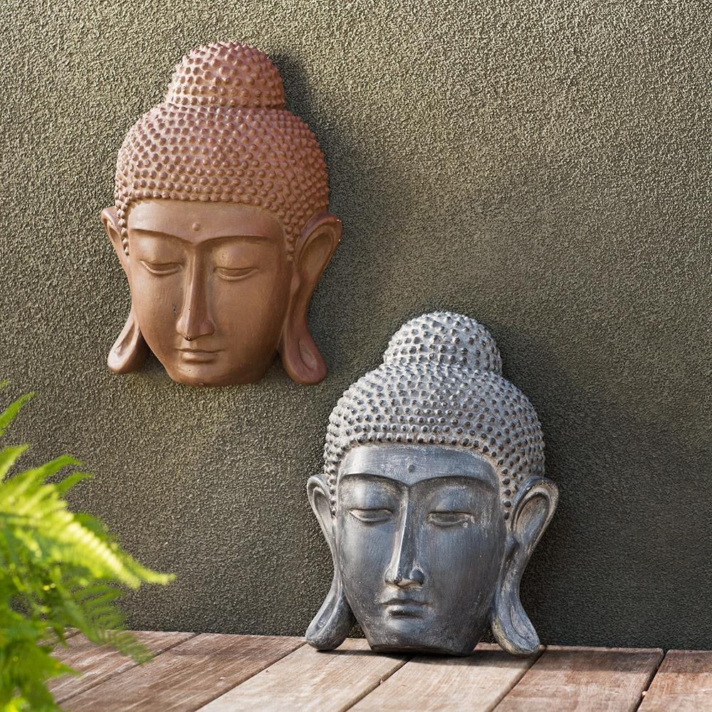 Prayerful Buddha Wall Art | Vivaterra Regarding Outdoor Buddha Wall Art (Image 11 of 20)