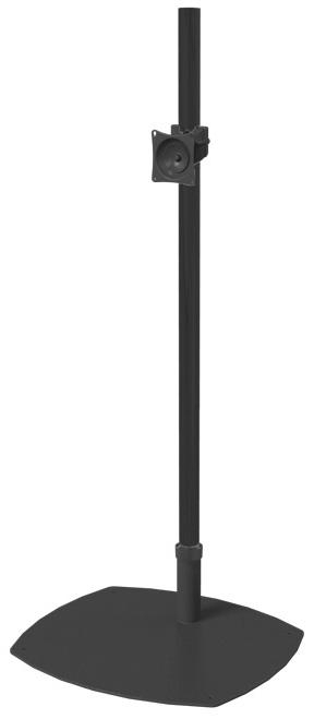 Premier Mounts Psp 84B Low Profile Single Pole Floor Stand With 84 Throughout Most Current Single Tv Stands (Image 10 of 20)