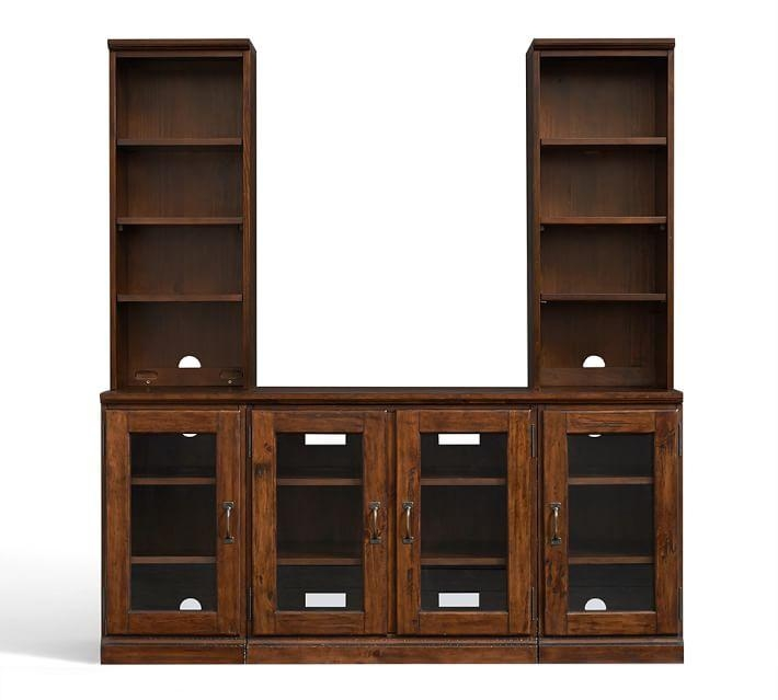 Printer's Large Tv Stand With Towers | Pottery Barn Inside Latest Large Tv Cabinets (Image 16 of 20)