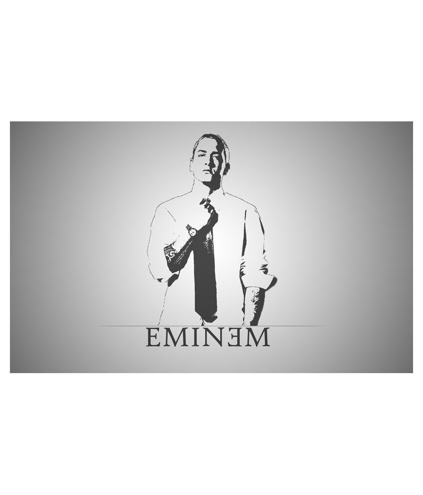 Printhike Glossy Fabric Eminem Wall Sticker – Buy Printhike Glossy Pertaining To Eminem Wall Art (View 16 of 20)