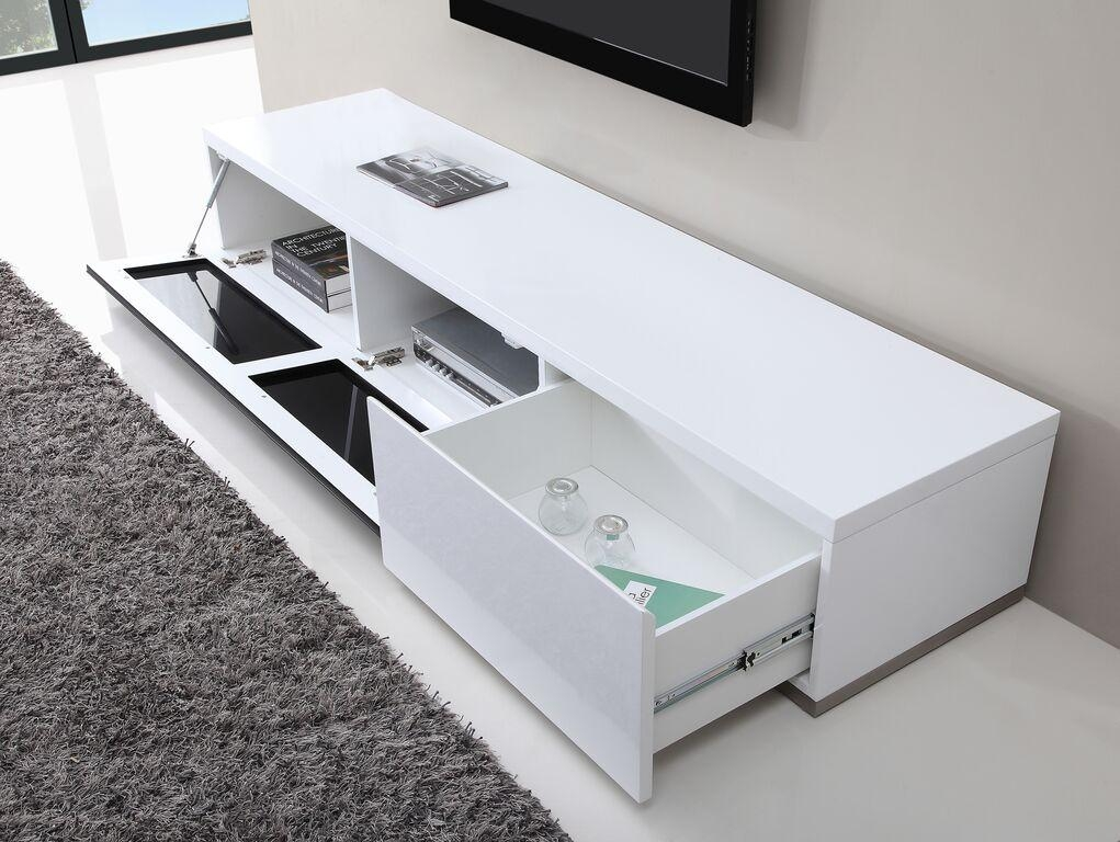 Producer Tv Stand | White High Gloss, B Modern – Modern Manhattan Inside Current White High Gloss Corner Tv Unit (Image 11 of 20)