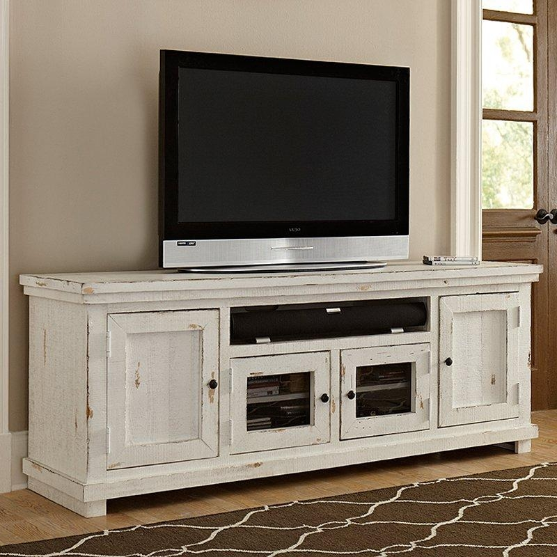 Progressive Furniture Willow Tv Console | Hayneedle Pertaining To Most Up To Date Rustic White Tv Stands (View 18 of 20)
