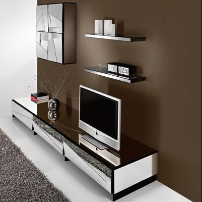 Psiche Mirrored Low Tv Unit – Robson Furniture For Newest Low Tv Units (Image 15 of 20)