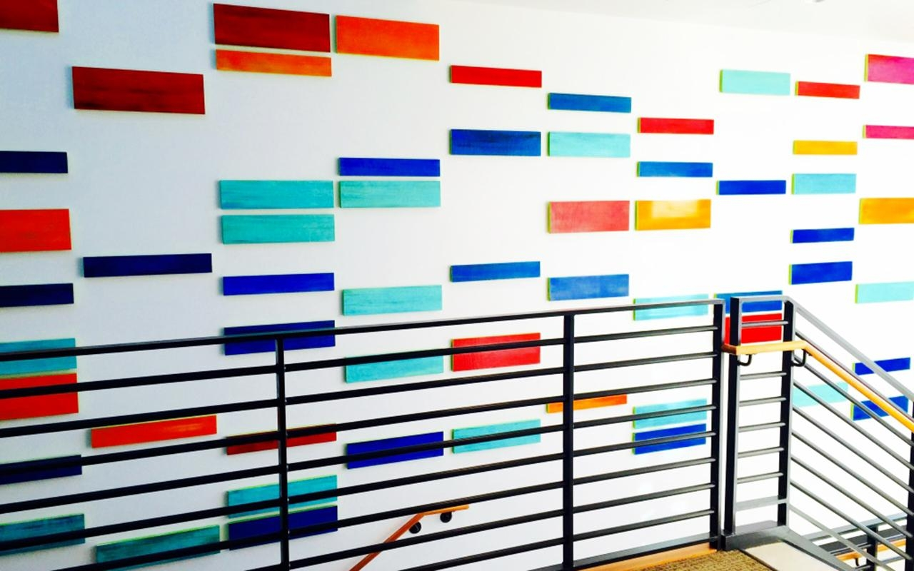 Public Art Installation | 'who Are You?' | Rosemary Pierce Modern Art With Dna Wall Art (Image 18 of 20)