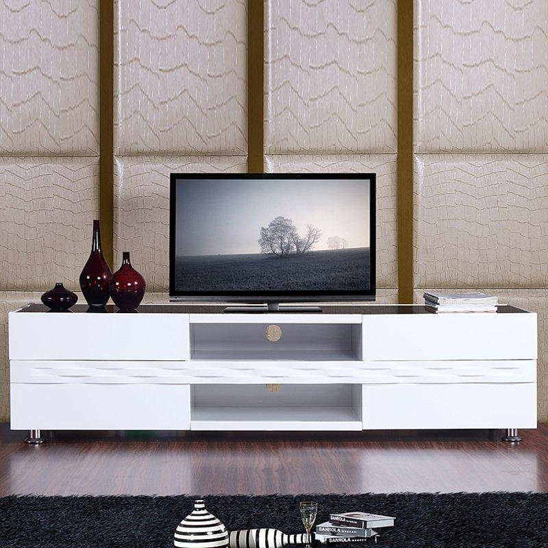 Publisher Tv Stand High Gloss White | Tv Stands For Most Current B Modern Tv Stands (Image 19 of 20)