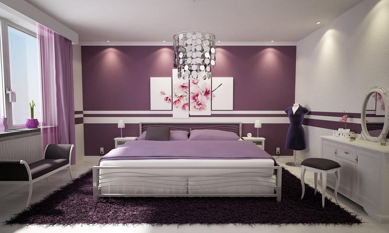 Purple Bedroom Wall Decor Regarding Purple Wall Art For Bedroom (Image 13 of 20)