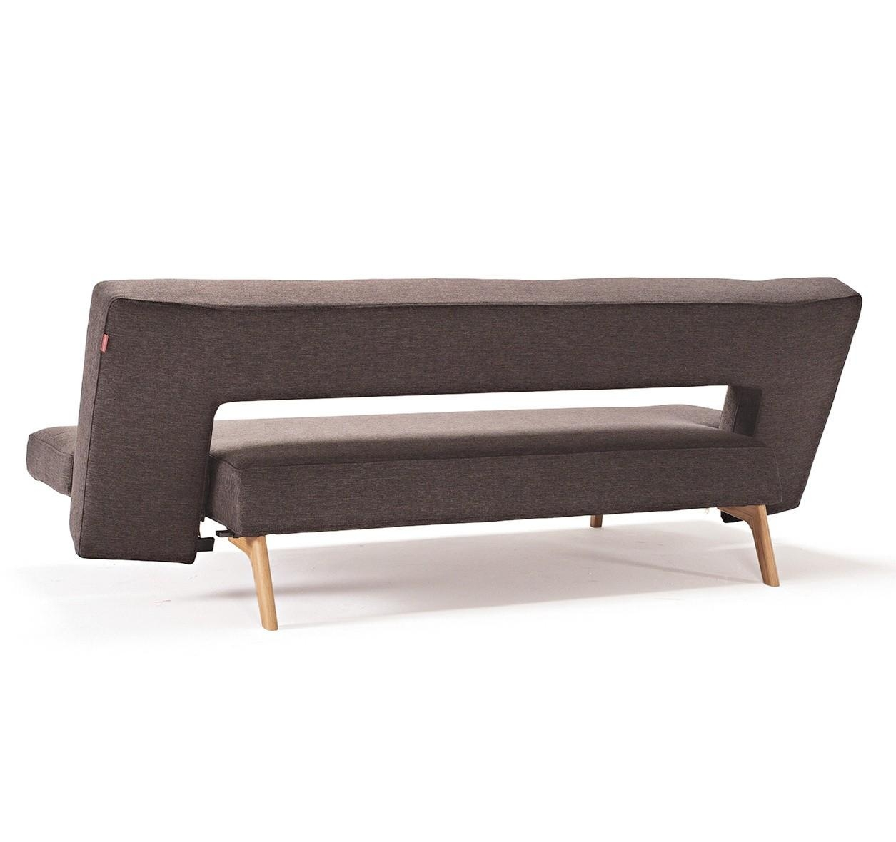 Puzzle Modern Sofa Bedinnovation With Wooden Legs In Fabric Intended For Wood Legs Sofas (Image 10 of 23)