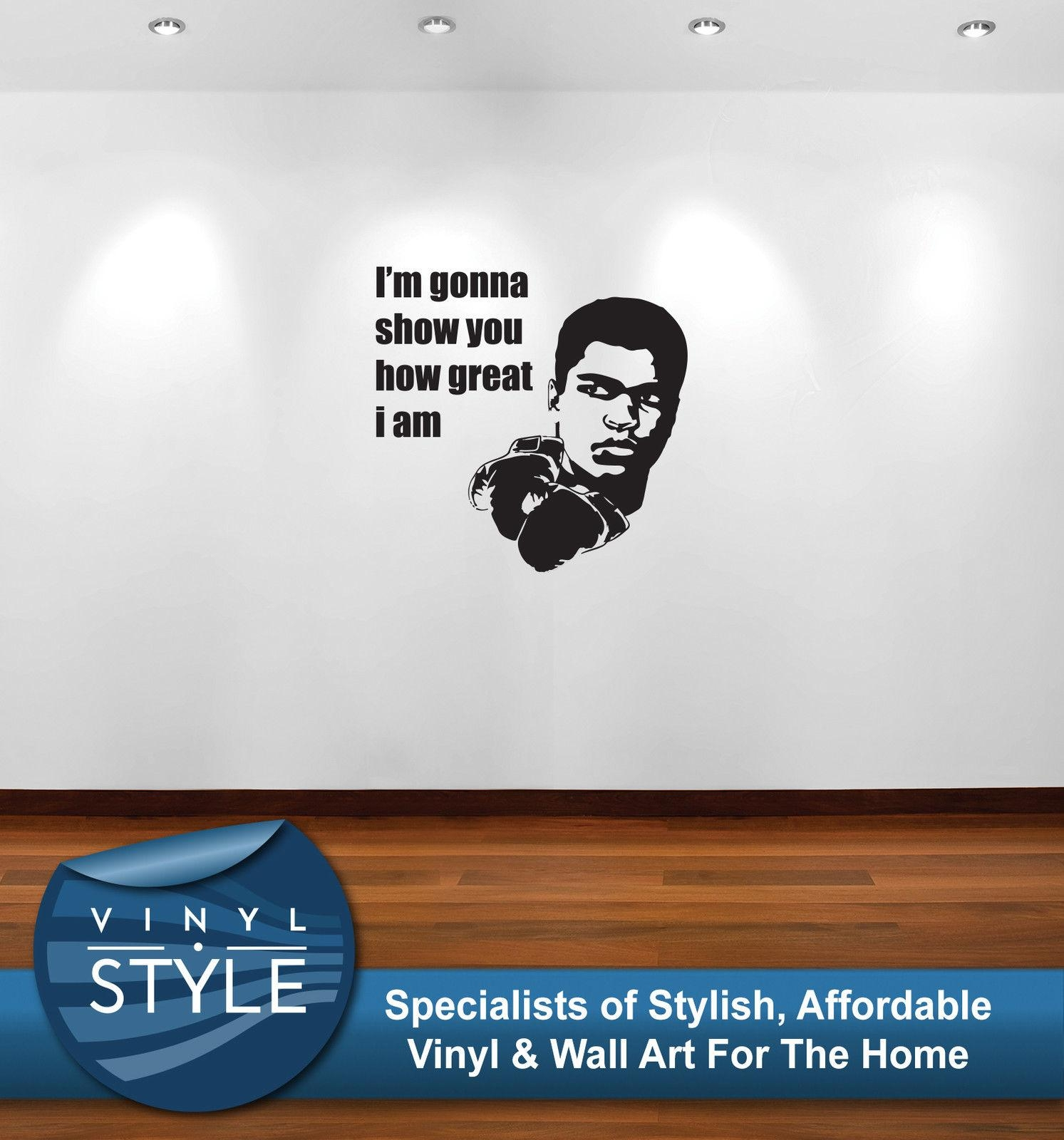 Q039 Muhammad Ali How Great I Am Decal Decor Wall Art Sticker Free intended for Quadrophenia Wall Art