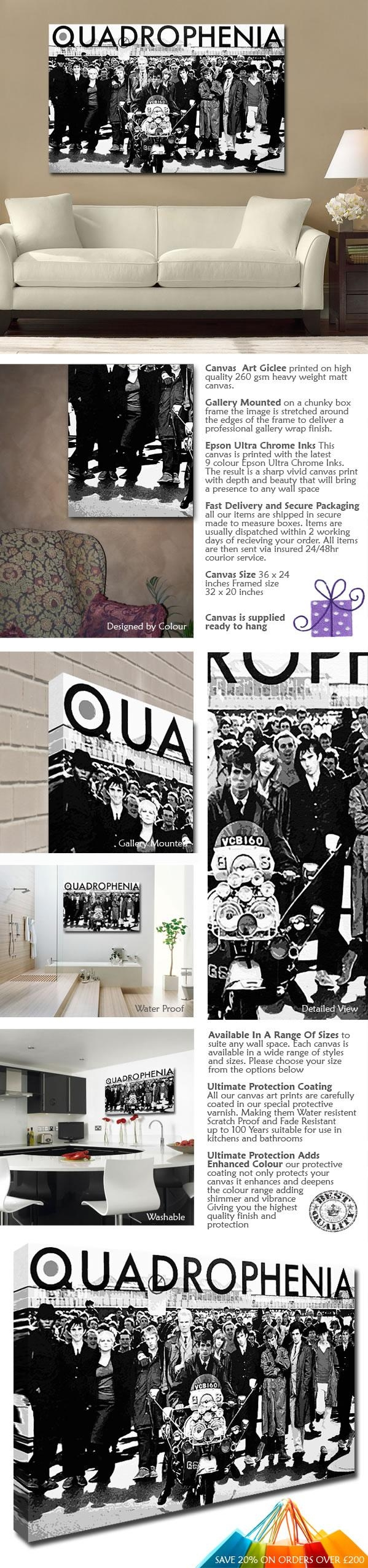 Quadrophenia Canvas regarding Quadrophenia Wall Art
