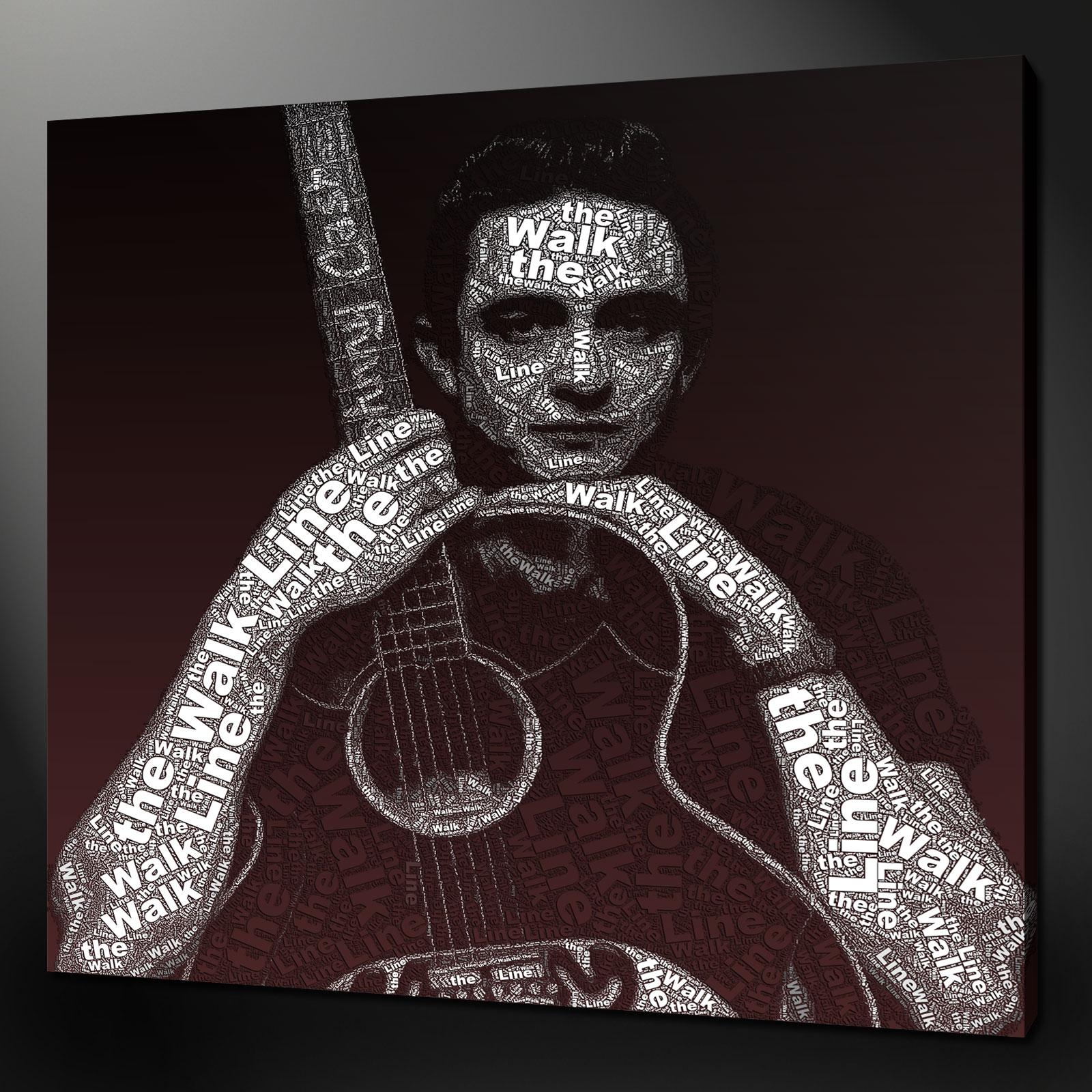 Quality Fine Art Canvas Print Pictures Quality Wall Hanging Home Decor with regard to Johnny Cash Wall Art