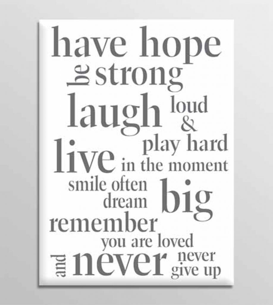 Quote Canvas Wall Art Inspirational Home Designing New – Lovely For Inspirational Quotes Canvas Wall Art (Image 11 of 20)