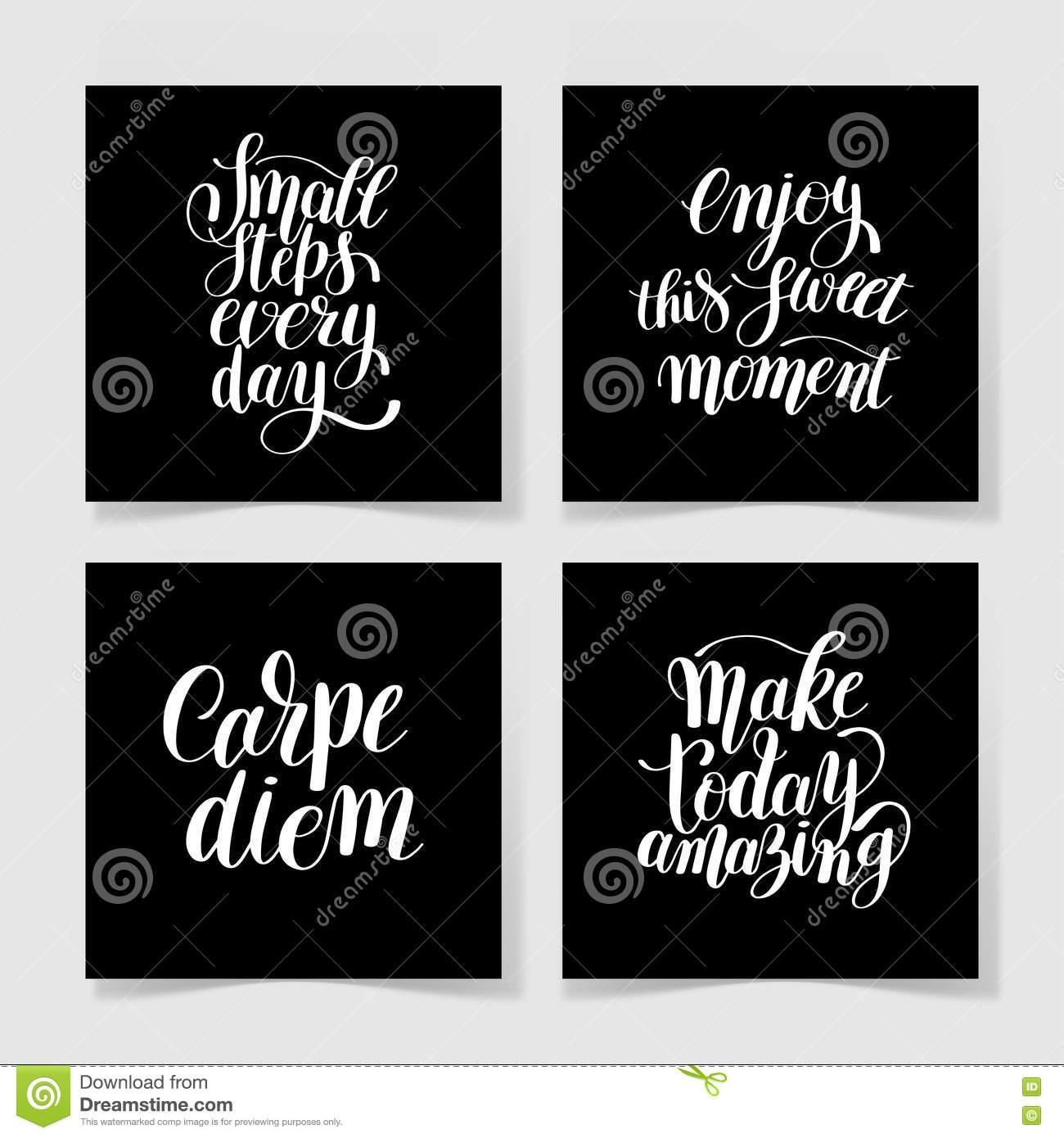Quotes Set To Printable Wall Art, Textile Design Stock Vector throughout Printable Wall Art Quotes