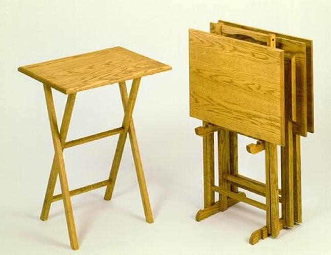R14 1850 – Tv Tray Tables Vintage Woodworking Plan Within Most Recently Released Folding Wooden Tv Tray Tables (Image 15 of 20)