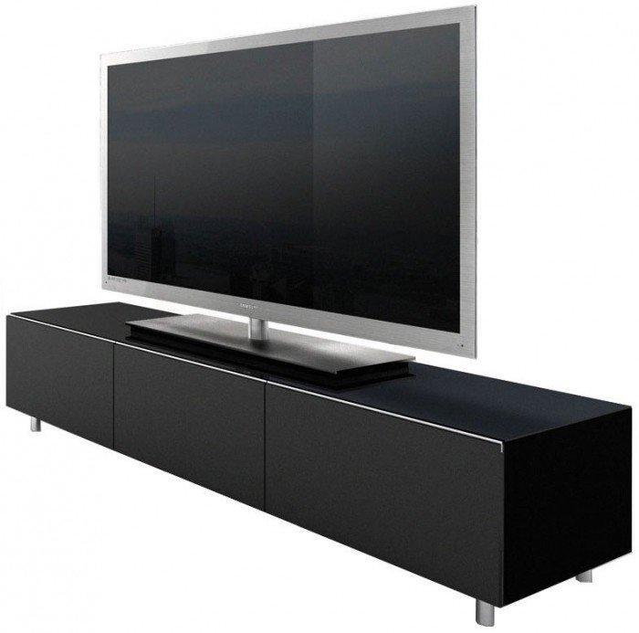 Racks Jrl1650S Gloss Black Extra Wide Tv Cabinet For Current Black Gloss Tv Cabinet (Image 12 of 20)