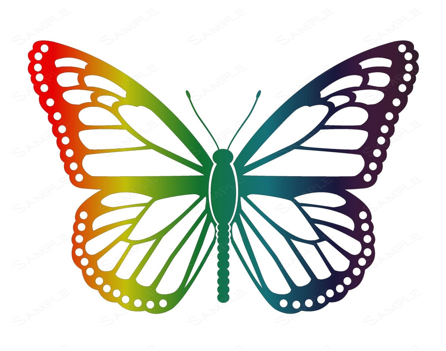 Rainbow Butterfly Wall Art Rainbow Butterfly Home Decor With Regard To Rainbow Butterfly Wall Art (Image 14 of 20)