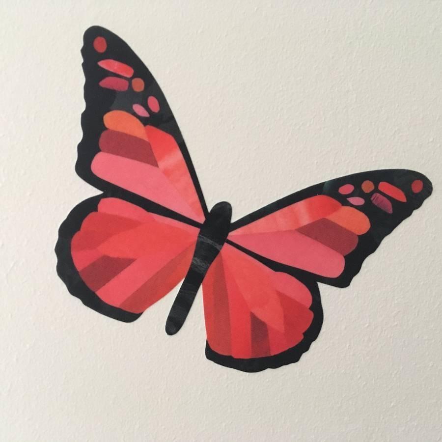Rainbow Butterfly Wall Stickerschameleon Wall Art Within Rainbow Butterfly Wall Art (Image 16 of 20)