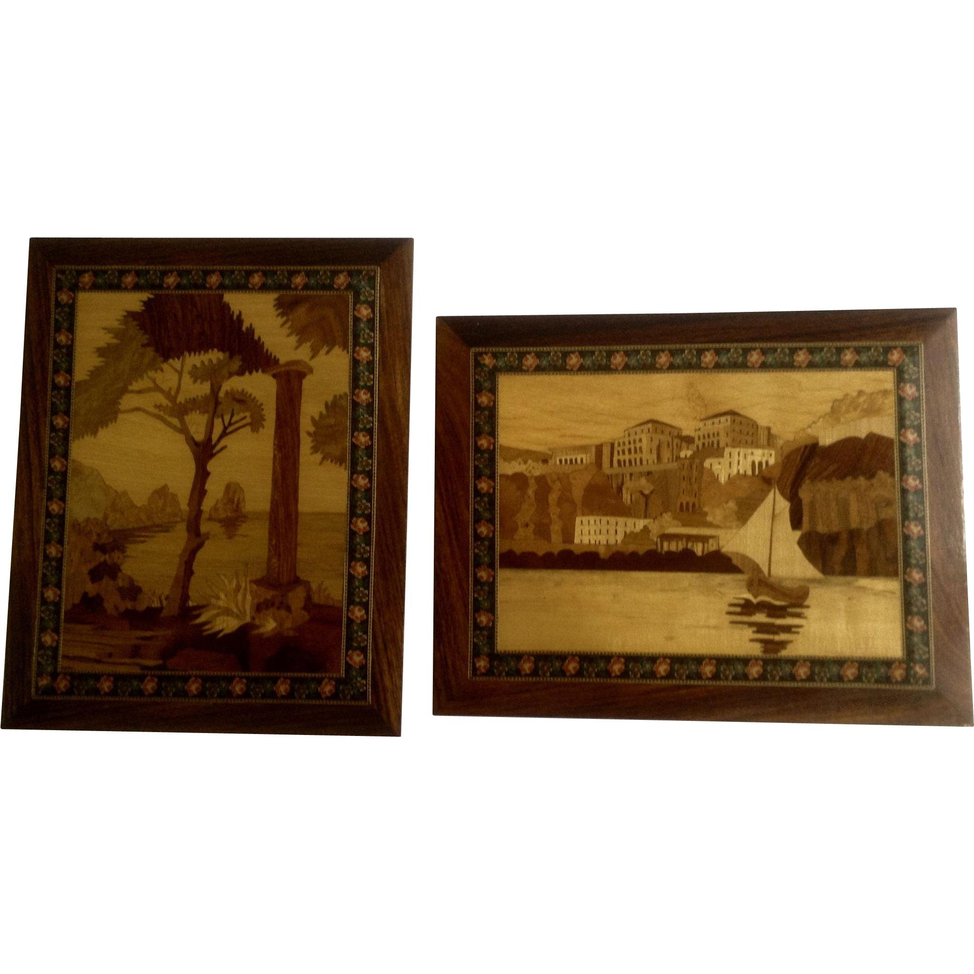 Featured Image of Italian Inlaid Wood Wall Art