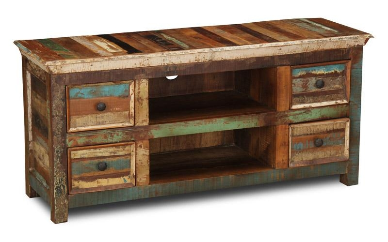 Reclaimed Indian Small Tv Cabinet | Trade Furniture Company™ throughout 2018 Recycled Wood Tv Stands