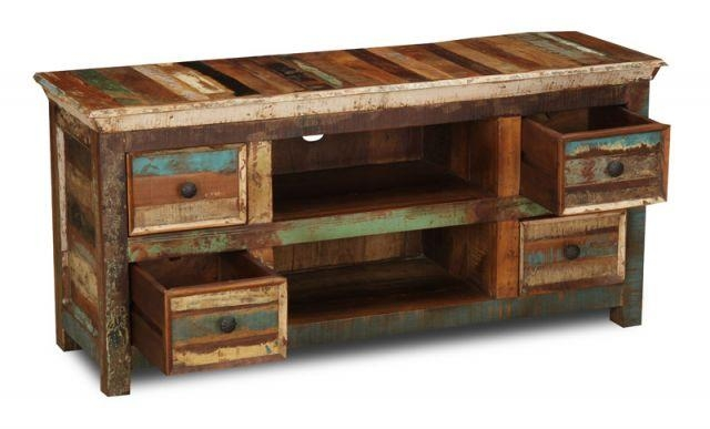 Reclaimed Indian Small Tv Cabinet | Trade Furniture Company™ Throughout Best And Newest Sheesham Tv Stands (Image 16 of 20)