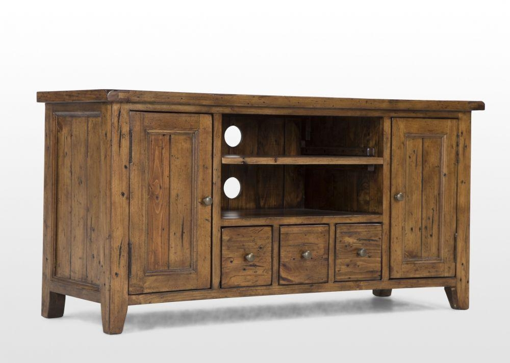 Reclaimed Pine Tv Unit – Henley – Ez Living Furniture Pertaining To Recent Pine Tv Unit (View 17 of 20)
