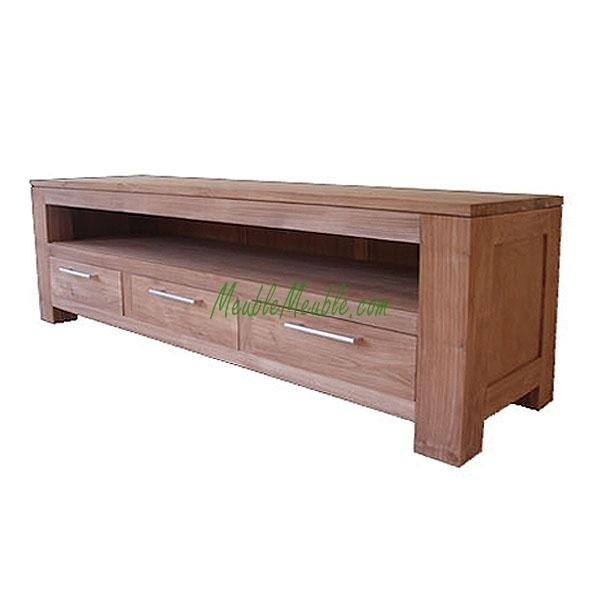 Reclaimed Teak Tv Stand Long 3D | Teak Furniture Producer Intended For Newest Long Low Tv Stands (Image 15 of 20)