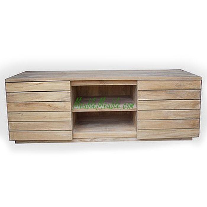 Reclaimed Teak Tv Stand Plank Door | Teak Furniture Producer Inside 2017 Recycled Wood Tv Stands (Image 12 of 20)