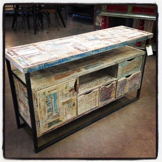 Reclaimed Wood T.v. Stand - Nadeau Cincinnati inside Most Recent Recycled Wood Tv Stands