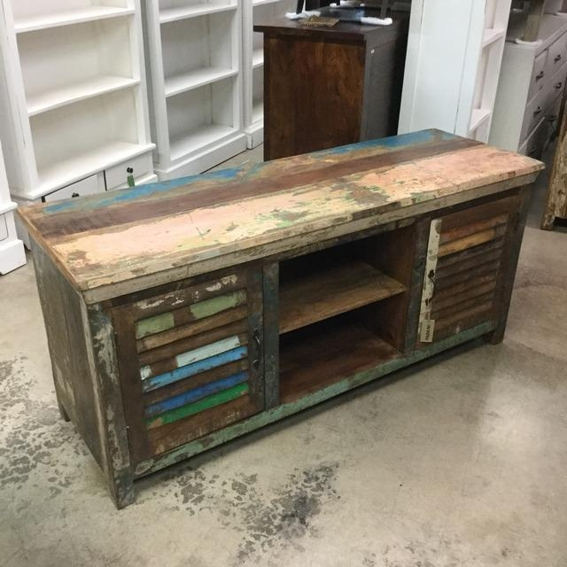 Reclaimed Wood T.v. Stand - Nadeau Miami with Most Up-to-Date Recycled Wood Tv Stands