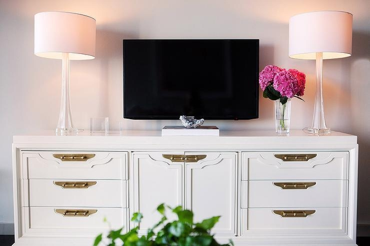 Rectangular Gold Mirrored Tv Cabinet With Current Gold Tv Cabinets (Image 14 of 20)