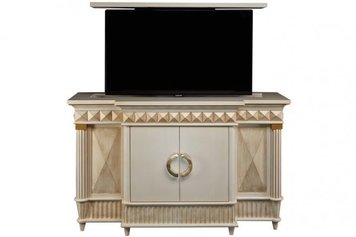 Rectractable Tv Lifts – Octavious Hidden Tv Lift Cabinet Within Most Current Gold Tv Cabinets (Image 15 of 20)
