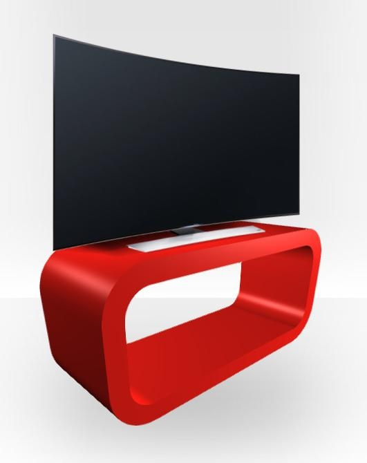 Red Gloss Tv Stand – Hooptangle – Free Uk Delivery – Zespoke Regarding 2017 Red Gloss Tv Stands (Image 11 of 20)