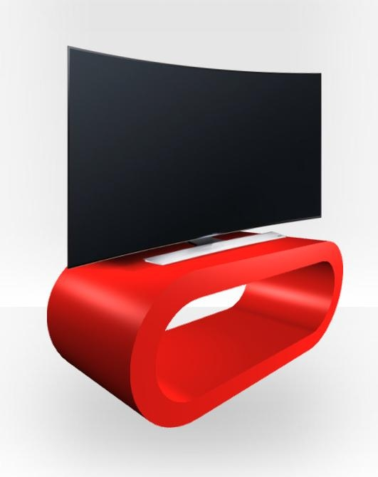 Red Gloss Tv Stand – Medium Hoop – Free Uk Delivery – Zespoke Throughout Most Up To Date Red Gloss Tv Stands (Image 12 of 20)