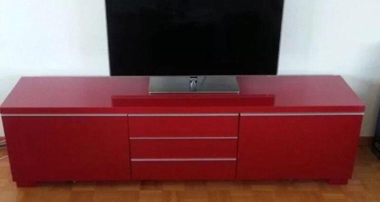 Red Ikea Besta Burrs Tv Unit Tv Stand | In Alexandria, West Within Most Current Red Tv Units (Image 15 of 20)