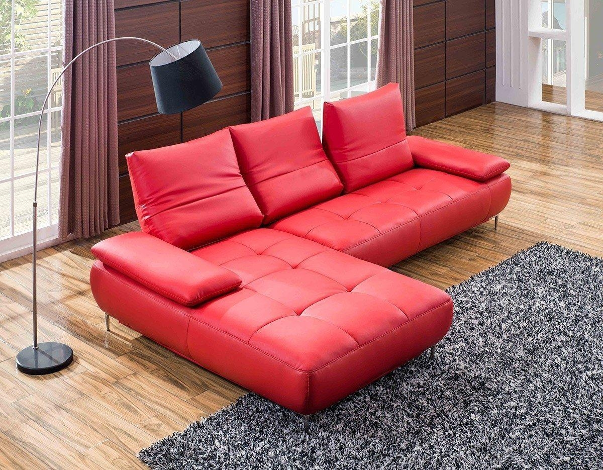 Red Microfiber Sectional Sofa 65 With Red Microfiber Sectional Inside Red Microfiber Sectional Sofas (Image 9 of 21)