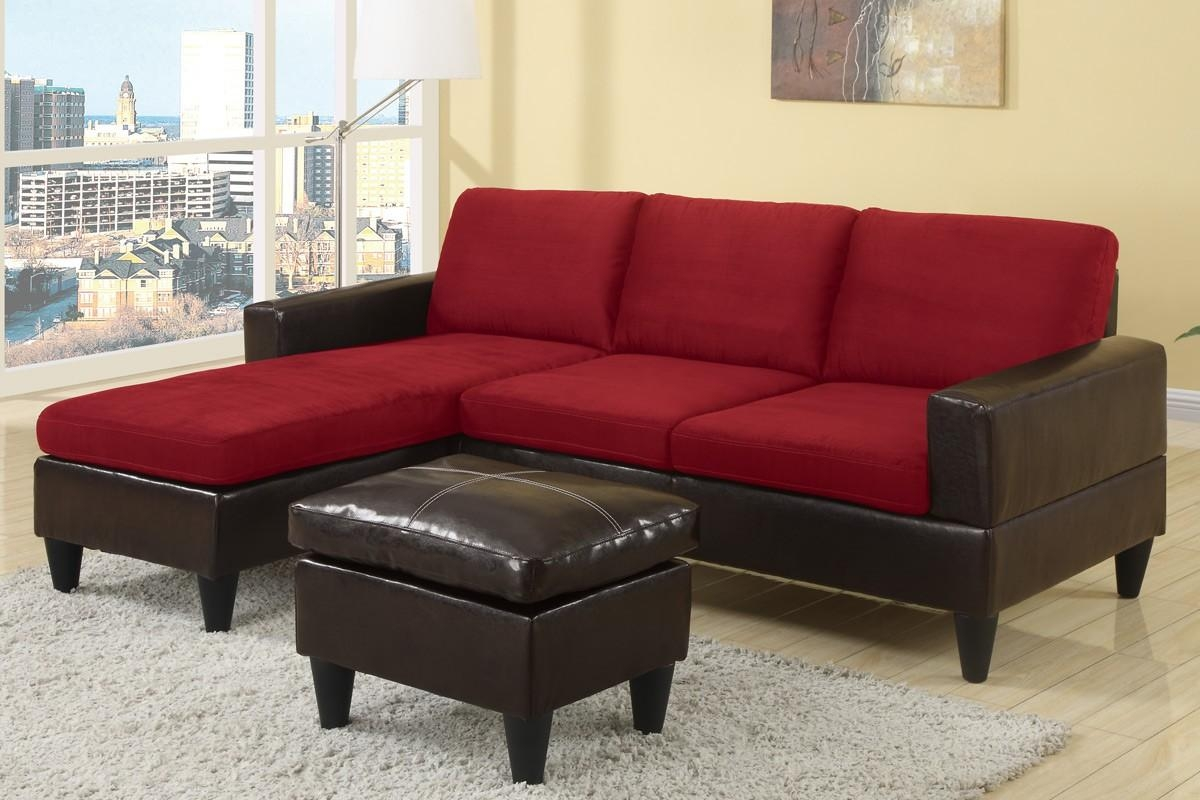 Red Microfiber Sectional Sofa 82 With Red Microfiber Sectional In Red Microfiber Sectional Sofas (Image 10 of 21)