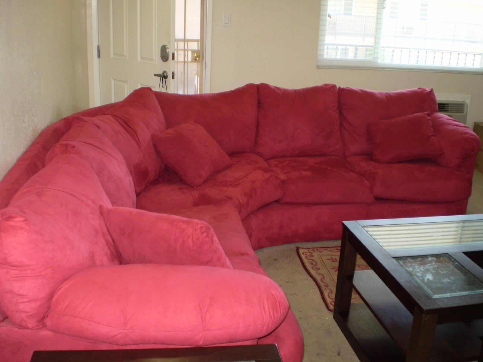 Red Sectional Sofa Microfiber | Centerfieldbar With Red Microfiber Sectional Sofas (Image 13 of 21)