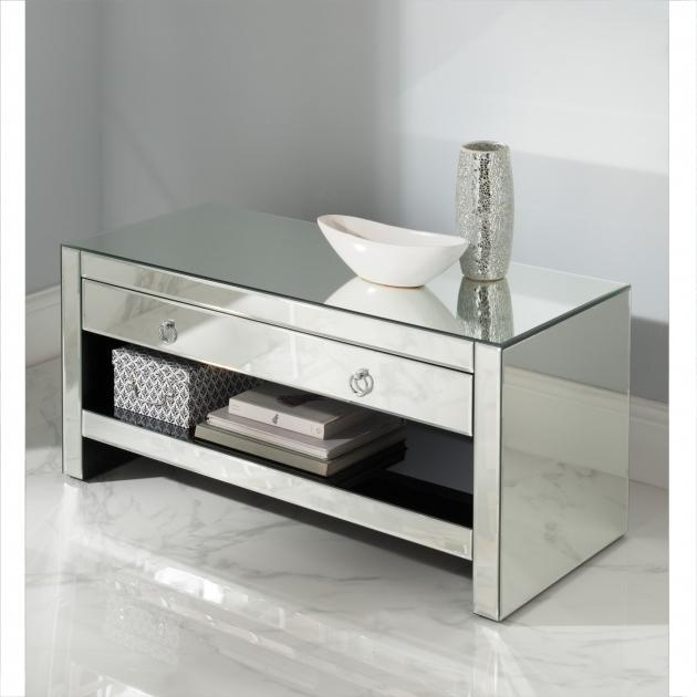 Remarkable Mirrored Furniture Tv Unit Cabinet Venetian Regarding Latest Cabinets