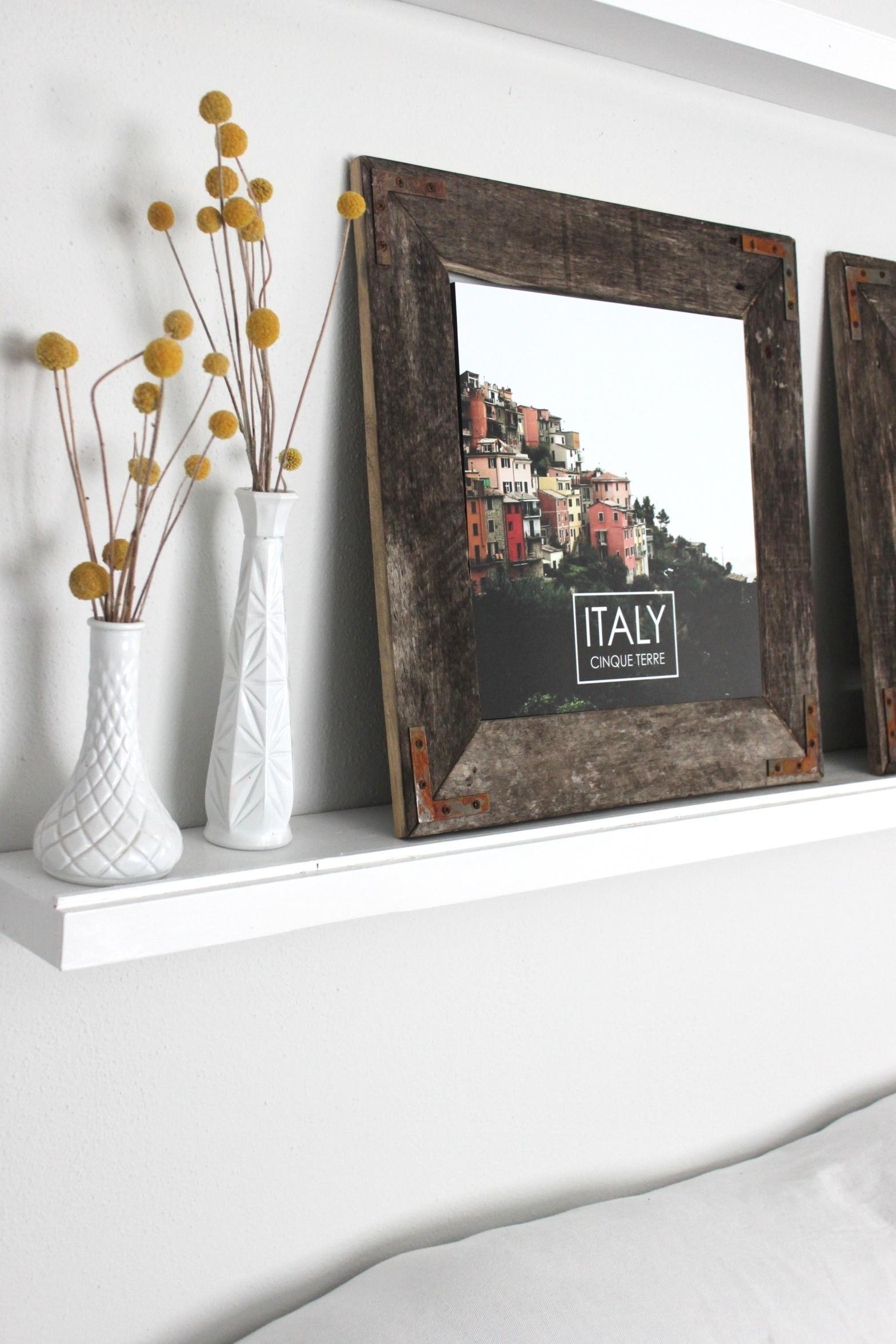Remodelaholic | Easy Diy Rustic Industrial Picture Frame For Diy Industrial Wall Art (Image 12 of 20)