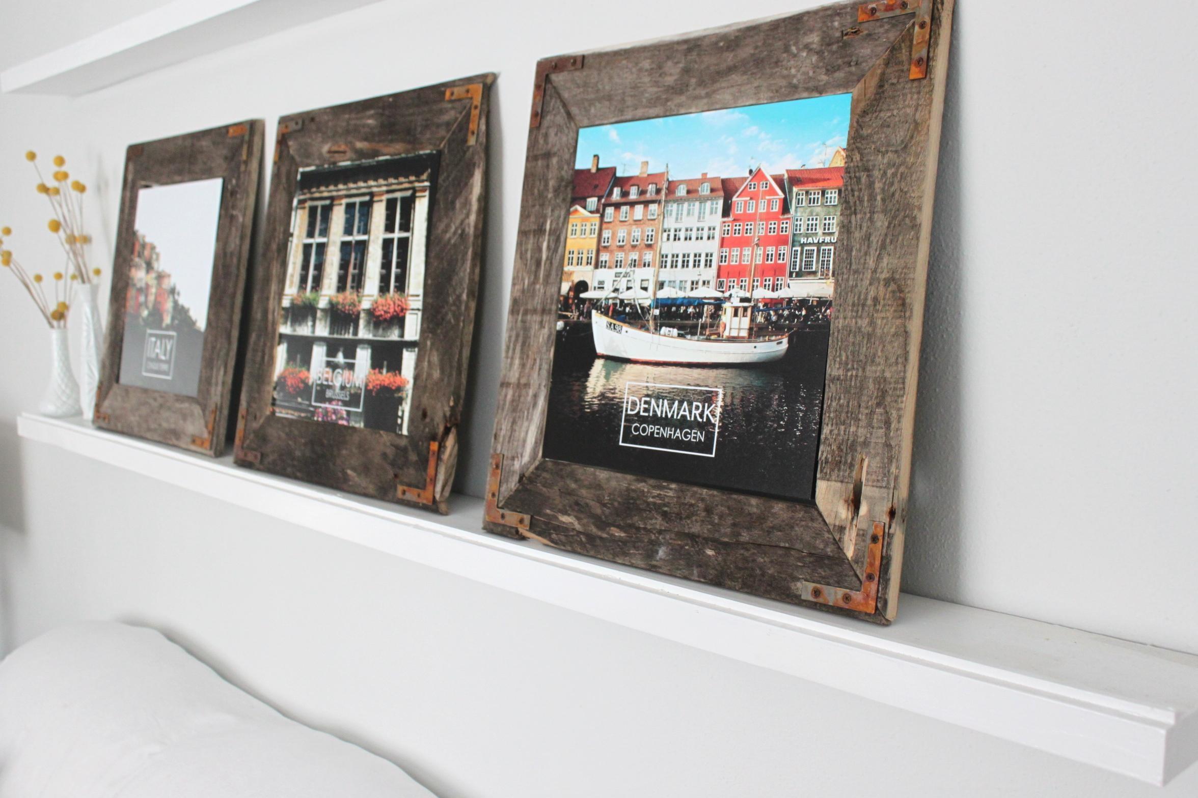 Remodelaholic | Easy Diy Rustic Industrial Picture Frame Regarding Diy Industrial Wall Art (Image 13 of 20)