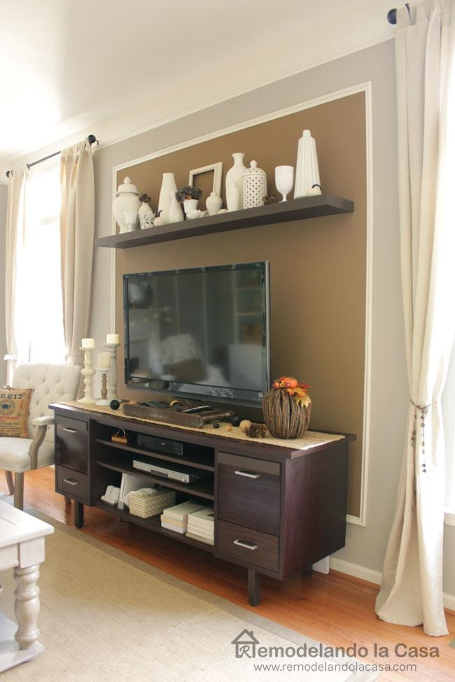 Remodelando La Casa: Diy Floating Shelves On Hometalk Pertaining To Latest Over Tv Shelves (Image 17 of 20)