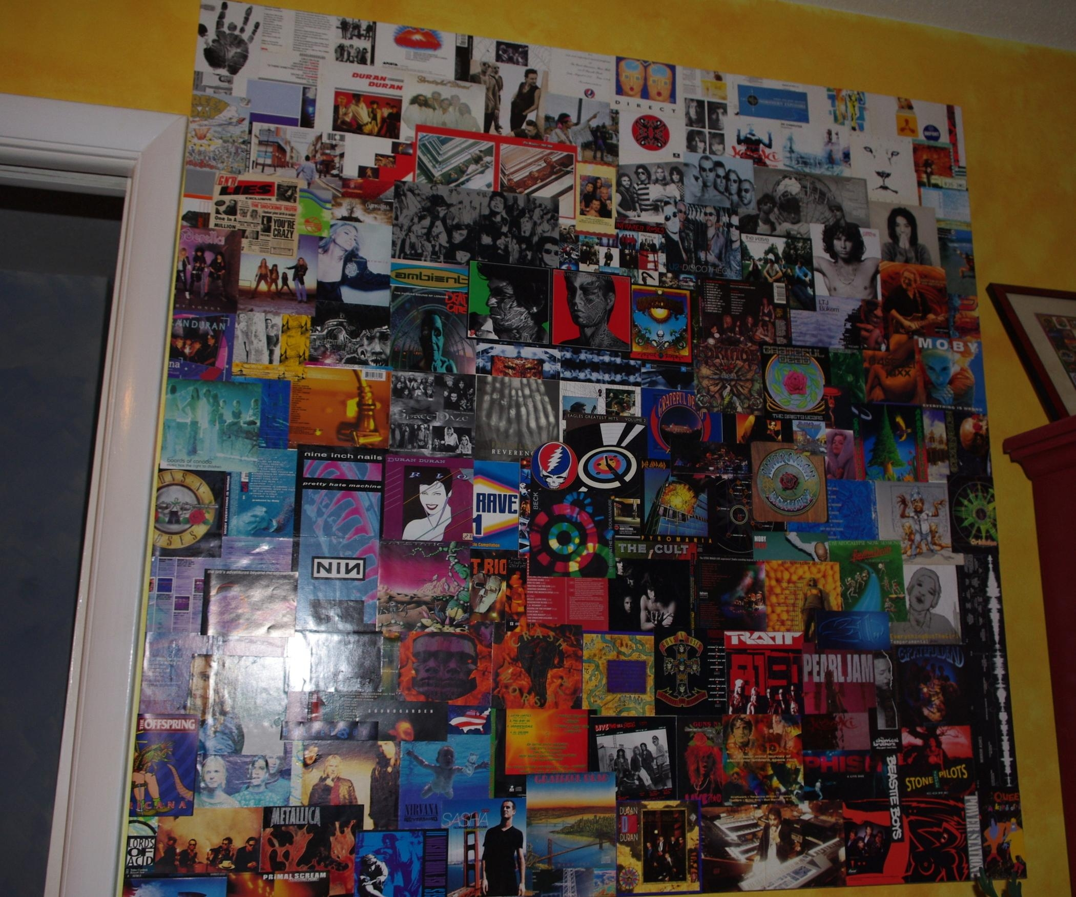 Repurpose Cd Album Cover Art In Giant Wall Collage (Image 16 of 20)