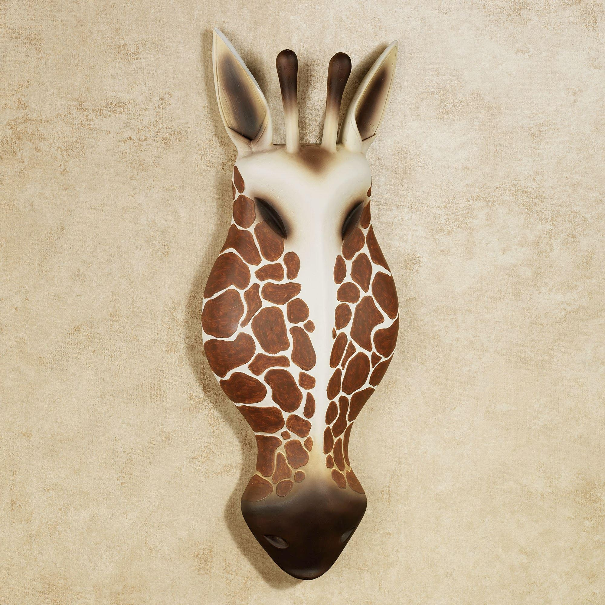 Resin Giraffe Head Wall Art In Auburn Wall Art (View 17 of 20)