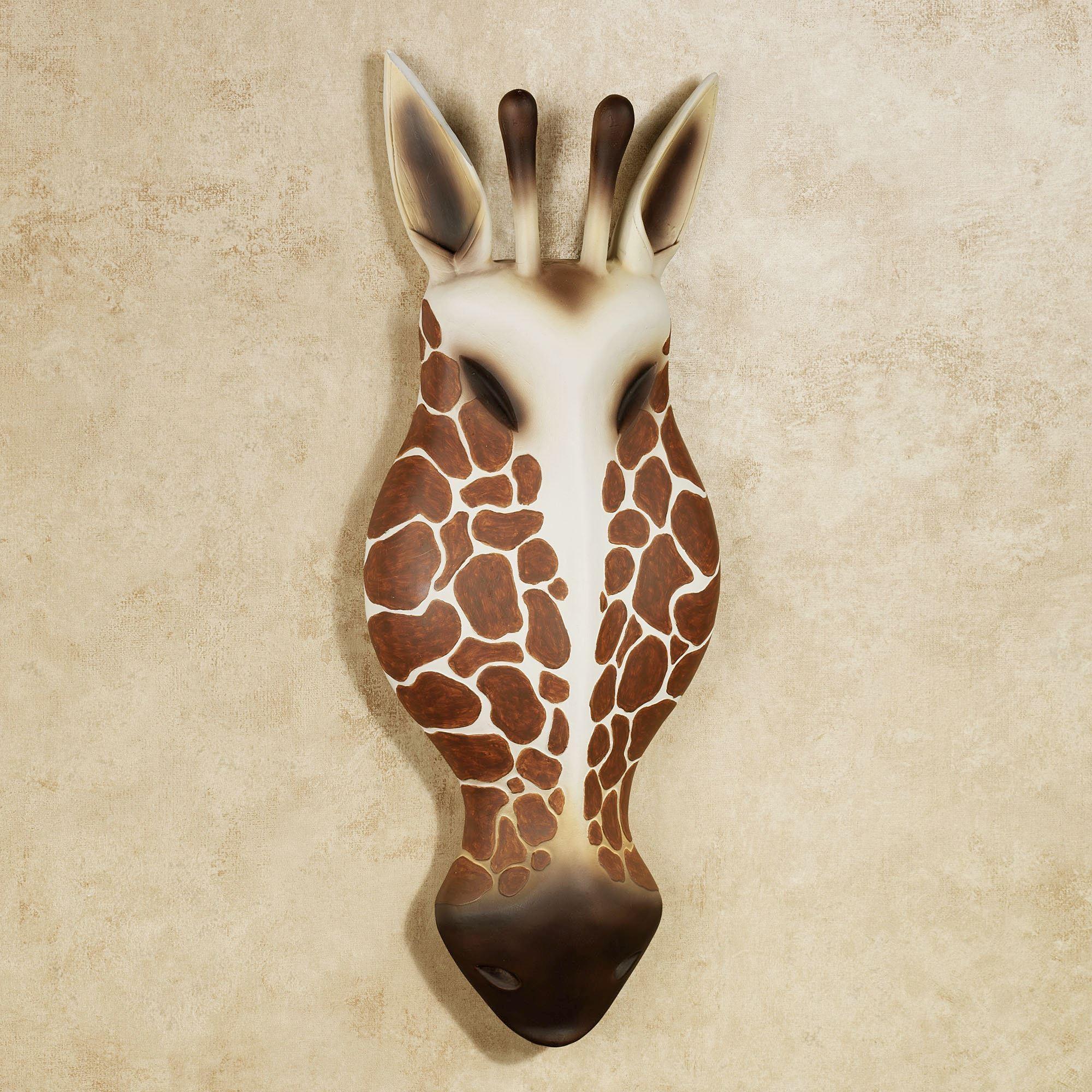 Resin Giraffe Head Wall Art In Auburn Wall Art (Image 20 of 20)