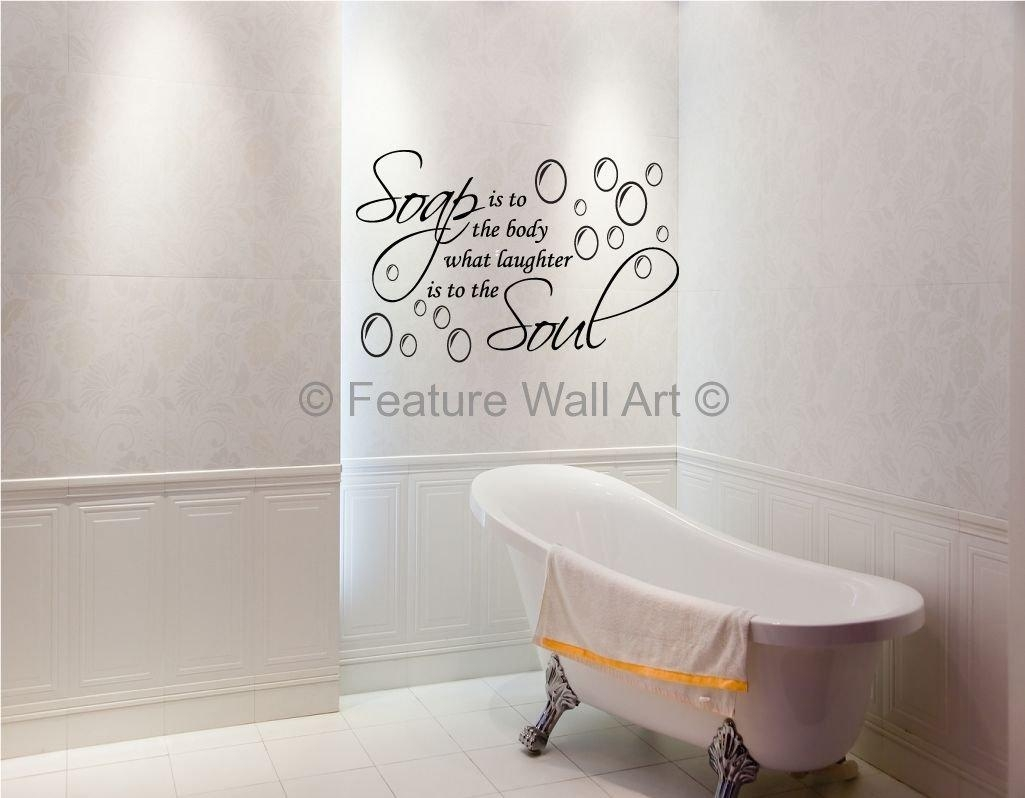 Restroom Wall Decor With Bathroom Vinyl Wall Art Decor Idea 8 In Art For Bathrooms Walls (View 19 of 20)