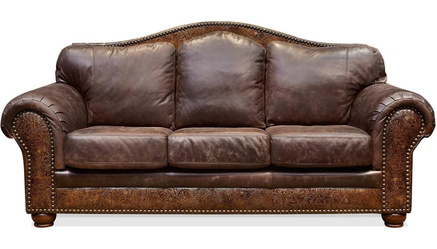 Retro Leather Sofa Bed | Centerfieldbar Intended For Vintage Leather Sofa Beds (Image 13 of 20)