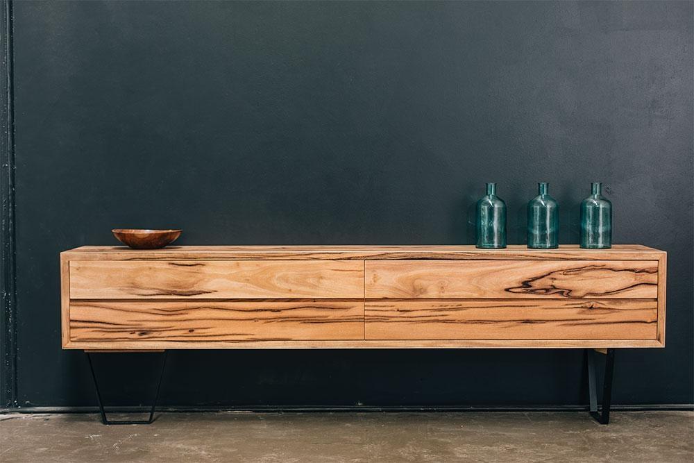 Retro Solid American Oak Tv Cabinet – Rust Furniture Australia For Recent Slimline Tv Cabinets (Image 11 of 20)