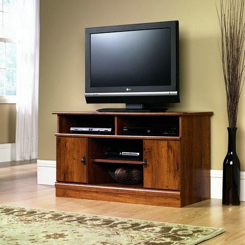 Reviews:sauder August Hill Corner Entertainment Stand For 32 Inch Intended For Most Recently Released 40 Inch Corner Tv Stands (View 13 of 20)